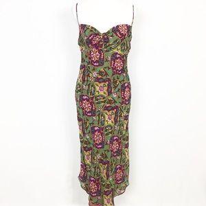 Catherine Malandrino Silk Slip Midi Dress